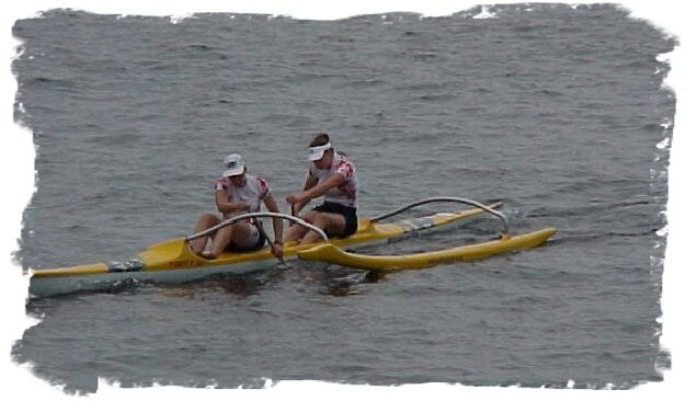 OC1/OC2 Surfski Women's Race - Wendy and Teresa - Togetherness!